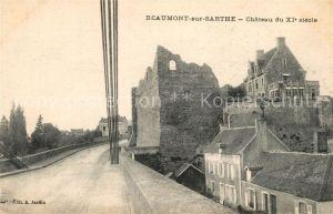 AK / Ansichtskarte Beaumont sur Sarthe Chateau du XI siecle Beaumont sur Sarthe