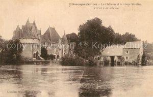 AK / Ansichtskarte Bazouges sur le Loir Chateau et vieux Moulin Bazouges sur le Loir