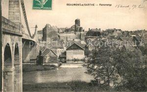 AK / Ansichtskarte Beaumont sur Sarthe Br?ckenpartie Beaumont sur Sarthe