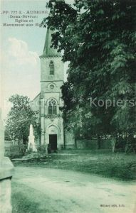 AK / Ansichtskarte Aubigne_Deux Sevres Eglise et Monument aux Morts Aubigne Deux Sevres