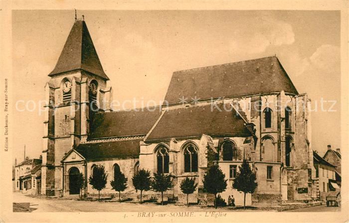 AK / Ansichtskarte Bray sur Somme Eglise Bray sur Somme