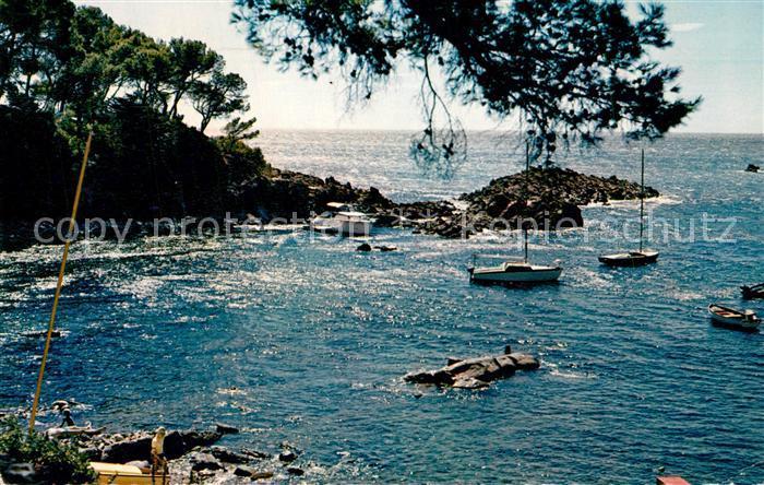 AK / Ansichtskarte Saint Raphael_Var Contre Jour a la Calanque de Santa Lucia Cote d Azur Saint Raphael Var