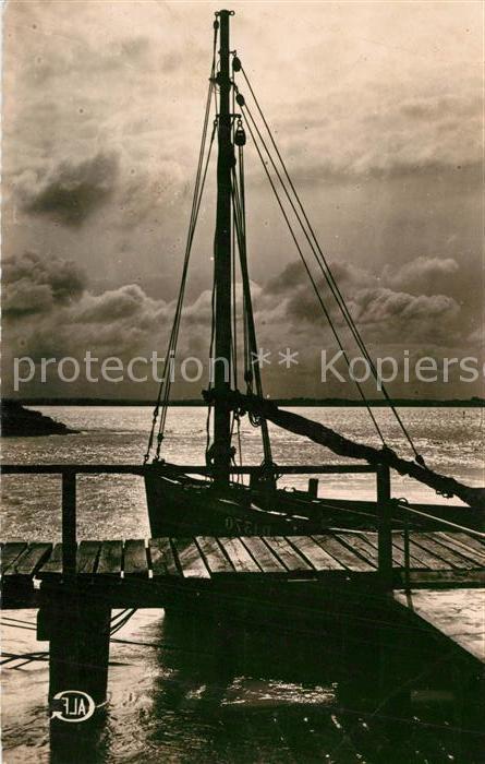 AK / Ansichtskarte Cayeux sur Mer Le Hourdel Crepuscule Bateau Cayeux sur Mer