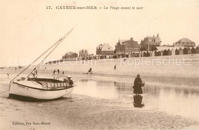 AK / Ansichtskarte Cayeux sur Mer La Plage avant le soir bateau Cayeux sur Mer