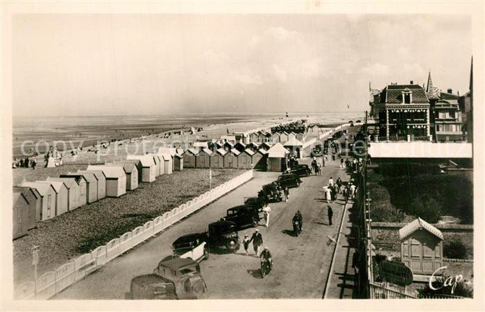 AK / Ansichtskarte Cayeux sur Mer La Plage et les Cabines vue sur Brighton Cayeux sur Mer