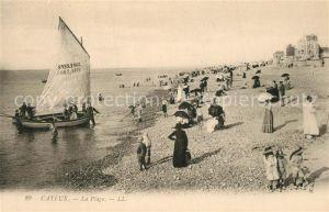 AK / Ansichtskarte Cayeux sur Mer La Plage Bateau Cayeux sur Mer