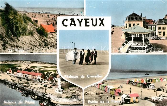 AK / Ansichtskarte Cayeux sur Mer Plage Bateaux de Peche Courbet Plage Pecheurs de Crevettes Cayeux sur Mer