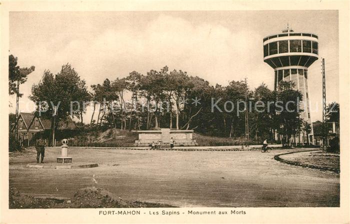 AK / Ansichtskarte Fort Mahon Plage Les Sapins Monument aux Morts Fort Mahon Plage