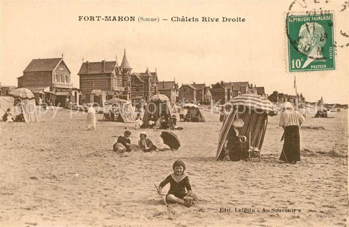 AK / Ansichtskarte Fort Mahon Plage Chalets Rive Droite la plage Fort Mahon Plage
