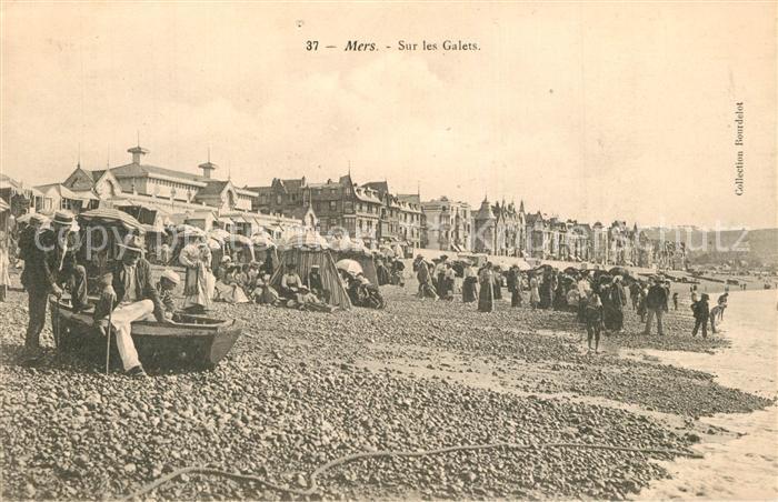 AK / Ansichtskarte Mers les Bains Sur les Galets Plage Mers les Bains