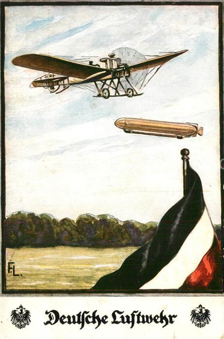 AK / Ansichtskarte Luftwaffe Deutsche Luftwehr Zeppelin Blumentag Schwarz Weiss Rot  Luftwaffe