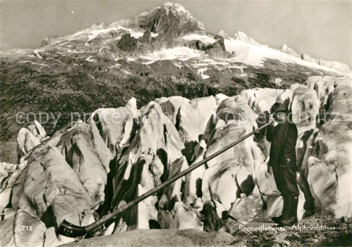 AK / Ansichtskarte Alphorn Alphornbl?ser Rhonegletscher   0