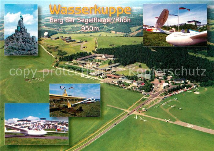 AK / Ansichtskarte Segelflug Wasserkuppe Fliegeraufnahme