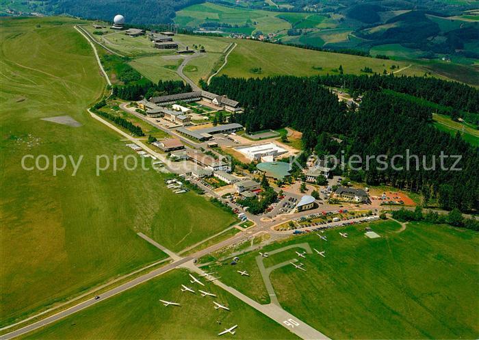 AK / Ansichtskarte Segelflug Fliegeraufnahme Wasserkuppe Naturpark Bayerische Rh?n   0