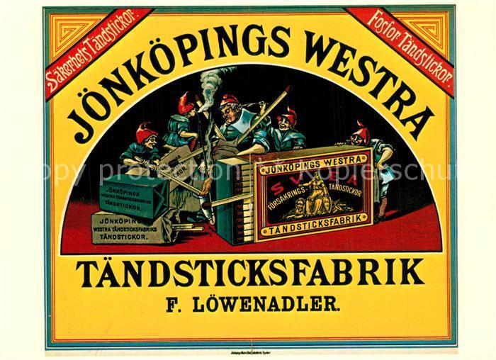 AK / Ansichtskarte Streichholz J?nk?pings Westra T?ndsticksfabrik F. L?wenadler