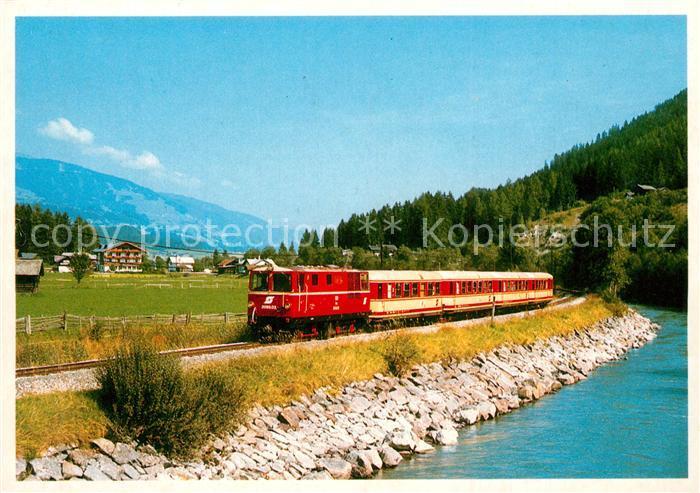 AK / Ansichtskarte Eisenbahn Schmalspurstrecke Zell am See Krimml  Eisenbahn 0