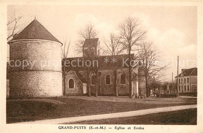 AK / Ansichtskarte Puits Eglise et Ecoles Puits 0