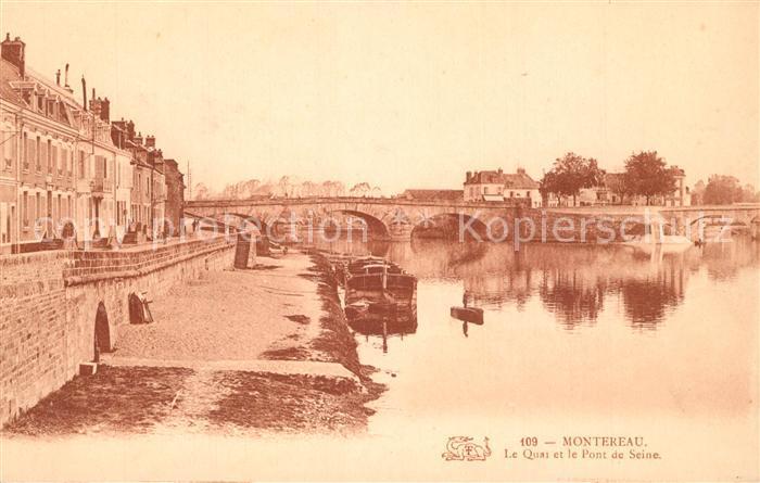AK / Ansichtskarte Montereau sur le Jard Quai et Pont de Seine Montereau sur le Jard
