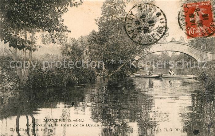 AK / Ansichtskarte Montry De Morin et le Pont de la Dhuis Montry