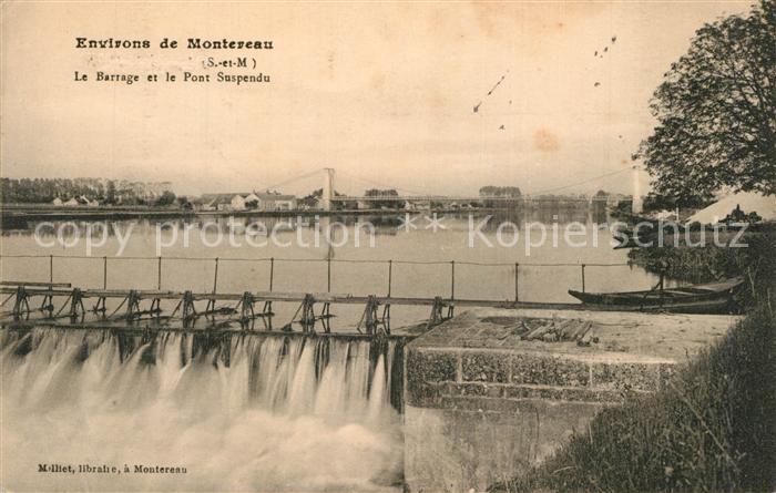 AK / Ansichtskarte Montereau sur le Jard Barrage et Pont Suspendu Montereau sur le Jard