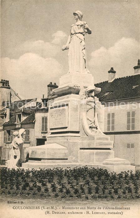 AK / Ansichtskarte Coulommiers Monument aux Morts de l`Arrondissement  Coulommiers