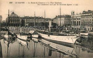 AK / Ansichtskarte Le_Havre Bassin du Commerce et Place Gambetta Boote Le_Havre