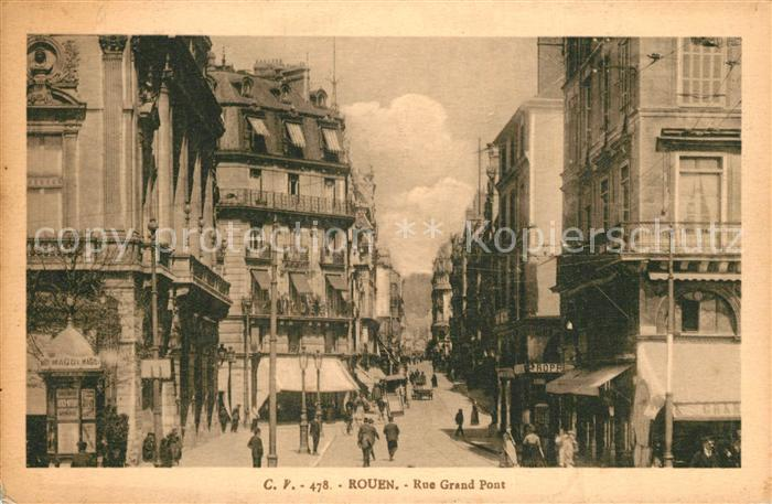AK / Ansichtskarte Rouen Rue Grand Pont Rouen 0