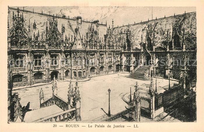 AK / Ansichtskarte Rouen Palais de Justice K?nstlerkarte Rouen 0