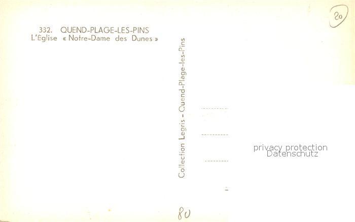 AK / Ansichtskarte Quend_Plage_les_Pins Eglise Notre Dame des Dunes Quend_Plage_les_Pins 1