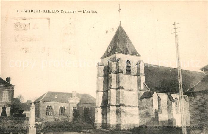 AK / Ansichtskarte Warloy Baillon Eglise Warloy Baillon 0