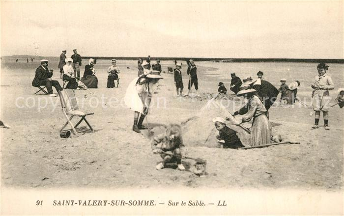 AK / Ansichtskarte Saint Valery sur Somme Sur le Sable Plage Saint Valery sur Somme