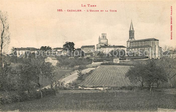 AK / Ansichtskarte Cadalen Eglise et la Tour Cadalen 0