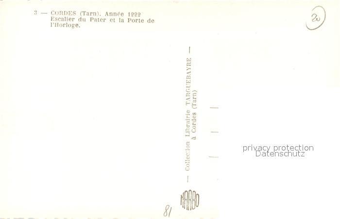 AK / Ansichtskarte Cordes sur Ciel Escalier du Pater et la Porte de l Horloge Cordes sur Ciel 1