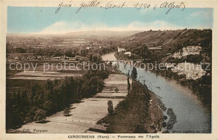 AK / Ansichtskarte Giroussens Panorama sur l Agout Giroussens