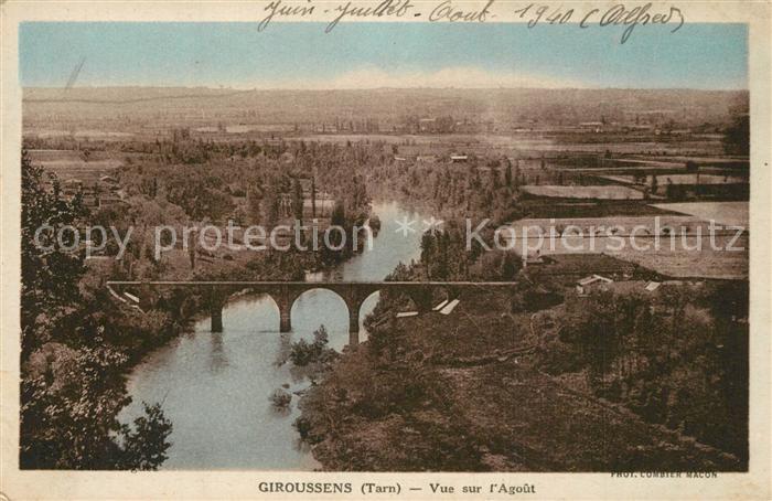 AK / Ansichtskarte Giroussens Panorama vue sur l Agout Giroussens 0