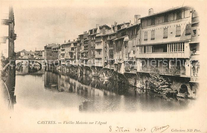 AK / Ansichtskarte Castres_Tarn Vieilles Maisons sur l Agout Castres_Tarn