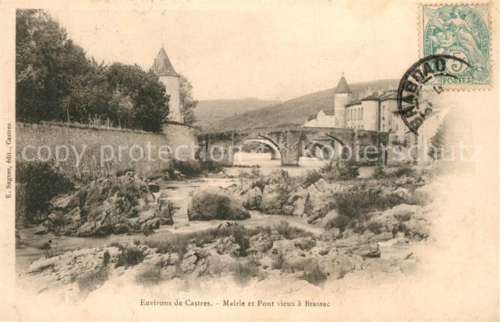 AK / Ansichtskarte Brassac_Tarn Mairie et Pont vieux Brassac Tarn 0