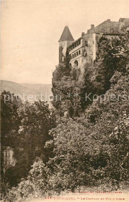 AK / Ansichtskarte Bruniquel Chateau en Nid d Aigle Bruniquel
