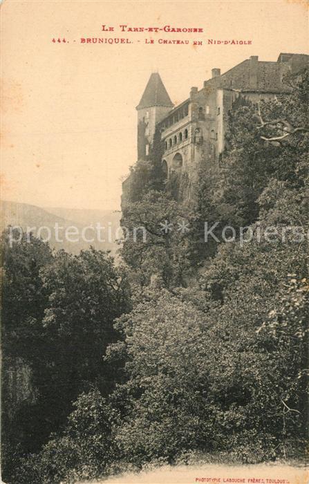 AK / Ansichtskarte Bruniquel Chateau en Nid d Aigle Bruniquel 0