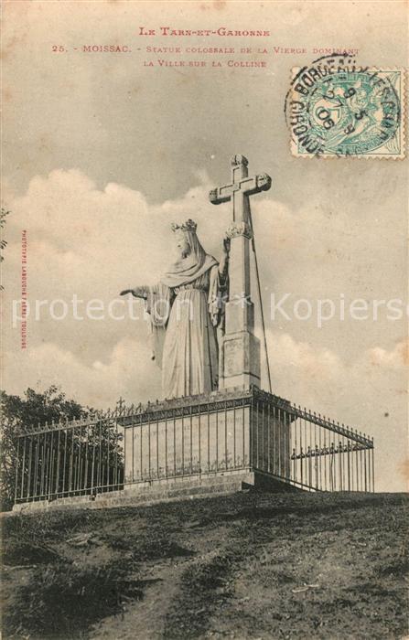 AK / Ansichtskarte Moissac Statue colossale de la Vierge Moissac 0