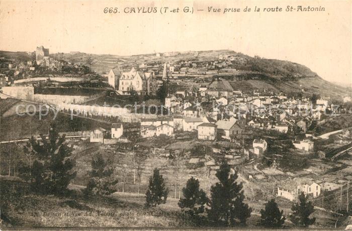 AK / Ansichtskarte Caylus Vue prise de la Route Saint Antonin Caylus