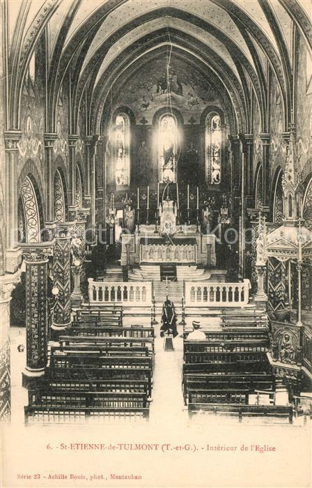 AK / Ansichtskarte Saint Etienne de Tulmont Interieur de l Eglise Saint Etienne de Tulmont