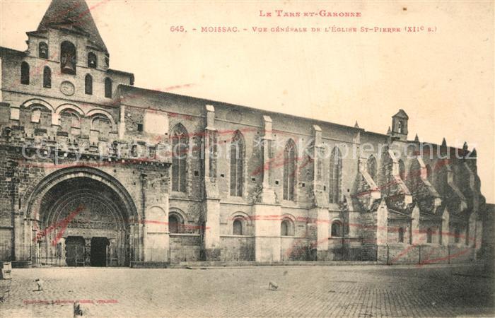 AK / Ansichtskarte Moissac Eglise Saint Pierre Moissac
