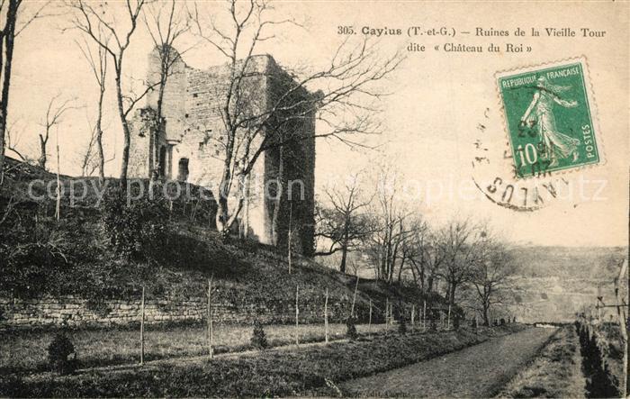 AK / Ansichtskarte Caylus Ruines de la Vieille Tour dite Chateau du Roi Caylus