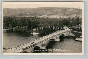 AK / Ansichtskarte Mantes la Jolie Le Pont et l Ile aux Dames vus de Notre Dame Mantes la Jolie