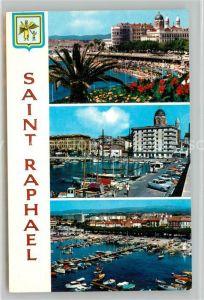 AK / Ansichtskarte Saint Raphael_Var La Plage et le Port Cote d Azur Saint Raphael Var