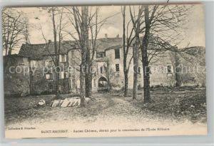 AK / Ansichtskarte Saint Maixent l_Ecole Ancien Chateau detruit pour la construction de l Ecole Militaire Saint Maixent l_Ecole