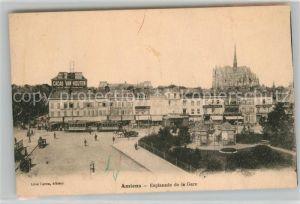 AK / Ansichtskarte Amiens Esplanade de la Gare Amiens