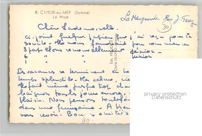 AK / Ansichtskarte Cayeux sur Mer La Plage Cayeux sur Mer 1