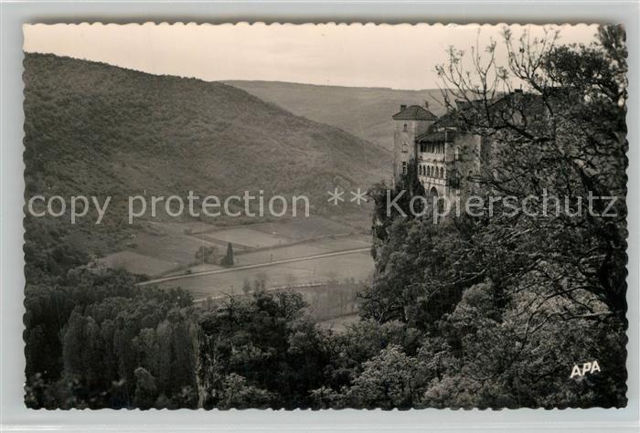 AK / Ansichtskarte Bruniquel Chateau et Vallee de la Vere Bruniquel